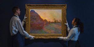 Mức giá kỷ lục hơn 110 triệu đô cho bức họa Haystacks của Claude Monet