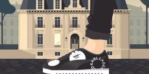 Giày Karl Lagerfeld X Puma mang thời trang cao cấp ra đường phố