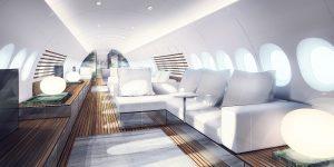 Giới nhà giàu thiết kế nội thất cabin máy bay theo kiểu du thuyền thượng lưu