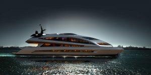 Siêu du thuyền Superyacht Porsche Design: Tàu vũ trụ trên mặt nước