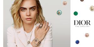 Cara Delevingne là đại sứ của BST trang sức cao cấp Rose Des Vents của Dior