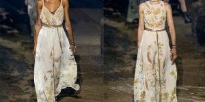 Quá trình tạo tác nhuộm thiên nhiên trên váy áo Xuân Hè 2020 của Dior