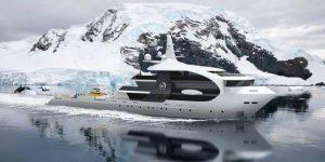 """Du thuyền """"cá voi sát thủ"""" phá vỡ đại dương băng"""