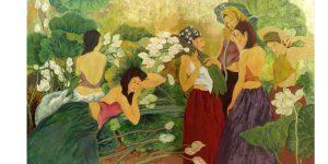 Họa sĩ Anh Hoa & Nét đẹp phụ nữ trong vườn hoa nghệ thuật