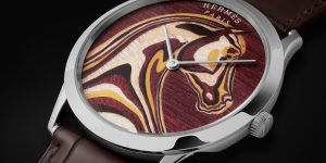 12 chiếc đồng hồ Slim d'Hermès Pégase Paysage: Ngựa thần biển khơi
