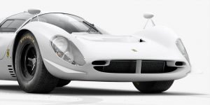 Ferrari 330 P4 lừng danh bất tử trong màu trắng của INK Studio