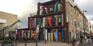 Chiêm ngưỡng tác phẩm bích họa tủ sách đường phố của nghệ sĩ Jan Is De Man