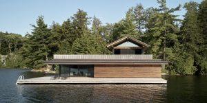 Ngôi nhà gỗ sang trọng ẩn dật bên bờ hồ Joseph đẹp hoang sơ