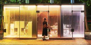 Nhà vệ sinh công cộng trong suốt an toàn và hiện đại nhất thế giới ở Nhật Bản