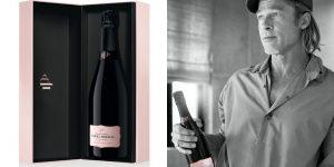 Cùng Brad Pitt thưởng thức chai rượu champagne hồng mới nhất