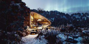 Biệt thự trắng ẩn dật giữa đỉnh núi hoang sơ của Na Uy